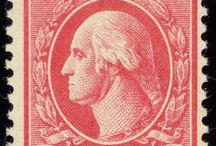 GEORGE WASHINGTON 2C STAMP / Research for antique, unused booklet of 24 US POSTAGE STAMP. George Washington profile, pony tail. 2 CENTS 2. Red or Carmine? Vellum between pages.