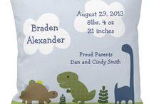 birth announcement cushions