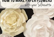 silhouette papirvirág