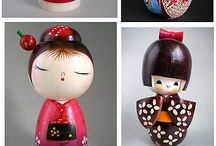 Ideas - Kokeshi or momiji Japanese dolls