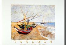 Van Gogh Boat Wall Decor Art Print Posters