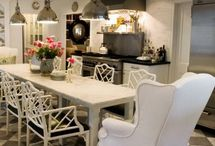 Cottage Dining Room inspiration / Ideas for taking a too-formal room in the cottage direction
