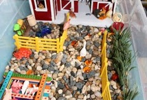 Sensory bins / I love these more than the kids do.....maybe :)