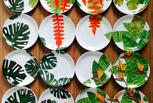 pratos pintados