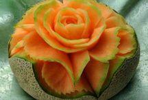 intagli di frutta e verdura