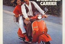 Vespa in vintage advertising / Vintage Vespa ads and whose using Vespa image.