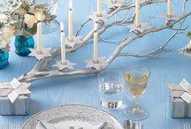 Hanukkah Table Settings / Table settings and ideas for Hanukkah