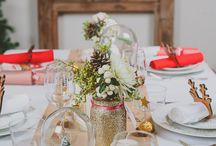 Déco d'ambiance et table de fête - Noël