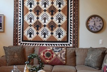 Home decor with quilts