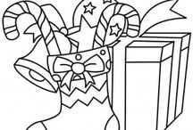 Christmas gifts coloring page / This page has lots of free Christmas Gift coloring pages for kids,parents and teachers.