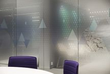 Glass film meeting rooms / Design, Inspiration, Glass Film Office Space, Glass Film, Meeting Room, Screen graphics, Glass film design, Interior graphic, Glass pattern, Window film pattern, Pattern, Window film, Conference room glass walls, Meeting room, Color film on glass, Environmental graphics, Graphic on glass, Vinylgraphics, Wallgraphics, Fade, Decorative window film, Transparent, Decorative Window Film, Frosted window film, Frosting, Foil Meeting Room, Foliering, Skjerming, Foliering av interiør, Frostet folie