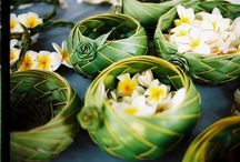 tropical table pieces