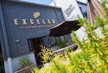 Excelso Cafe, Tauranga / Excelso Cafe & Coffee Roastery in Tauranga underwent a renovation and expansion recently using Trade Essentials Strandboard.  Photos by Sean McCabe