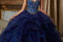 vestidos azules para chicas de diamantes azules