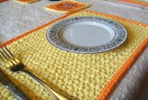 Crochet placemats and potholders