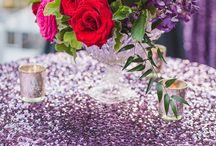 Purple Silver Red