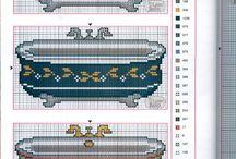 Cross stitch - bathroom