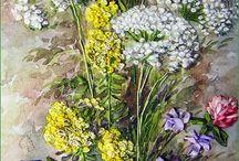 YapraklarVe çiçekler pano için