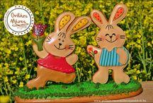 Mézeskalácsok húsvétra / Mézeskalácsok húsvéti asztaldísznek, locsolóajándékok, dekorációk