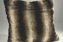 Brown and Beige Faux Fur / Faux Fur Throws, Cushions and other Decor in Brown and Beige