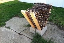 fire wood stacking