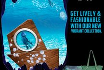 """Get Lively with our Vibrant Collection """"Life Aquatic Collection"""" / The New Vibrant Collection is here! Baggit is Showcasing the Fresh & Mesmerizing Life Aquatic Collection that is Voguish & Functional. Check out these Awesome & Trendy New Arrivals & get Smitten. Inspired by Swirling Waters & Life Under the Ocean, lively prints have been combined with cruelty-free stunning synthetic leathers to create modern bags for a consumer. Trend with the Life Aquatic Collection and stay fashionable at www.baggit.com"""