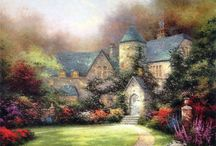 Living in a Thomas Kinkade Painting... / by Bumper Bubbles LLC