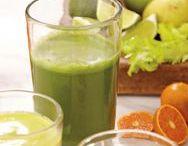 Diverse mat og drikke: smoothies og juice, snacks, gjærbakst o.s.v.