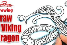 viking dragon and celtic knot