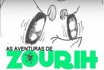 As aventuras de zourih / Roteiro :Nayara Corrêa / Ilustração :Riviano Oliveira Magalhães/ Edição de Arte: Thais Marins