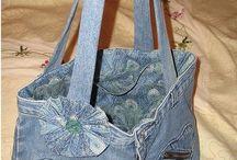 Bags 6 / farmer táskák / Egyedi táskák újrahasznosított farmerből