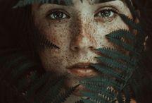 Portraits,leaves
