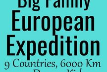 Big Family European Expedition - Road Trip and Cruise