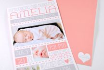 Baby girl birth announcements / by Marlene Kelly