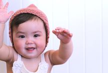 Knitted baby bonnets / Knitted bonnets for babies