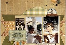 """Inspiring Boy/Masculine Projects! / This board is full of all kinds of layouts, cards and altered art that is masculine! It's hard to find a """"boy"""" project that is really """"boyish"""".....These are pieces I found to be masculine and cool!! / by Jules Aviles"""