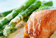 Salmon in butter sauce