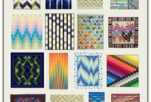 Bargello patterns.