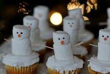 Cupcake sneeuwpop