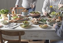 Denby: Always Entertaining Deli / A fresh and modern collection of bowls, plates and platters perfect for informal dining in four stunning contemporary mix and match glazes.