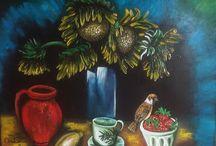 dipinti eseguiti a mano olio su tela artista Antonio Cariola