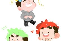 Pewdipie,Jacksepticeye and Markiplier
