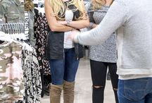 Shopping in the Select Fashion Store / Girls just wanna have fun! TOWIE's Kate Wright forgets her romantic woes as she enjoys a spot of retail therapy with co-star pal Georgia Kousoulou in the Select Fashion Store.