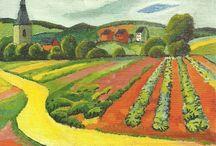 Bevo expressionistische landschap