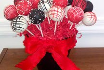 Black red and white party idea