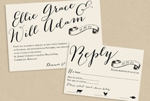 STATIONARY FOR YOUR WEDDING / Invites, wedding stationary, seating plans.