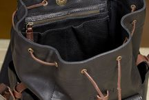 Backpack men's leather.