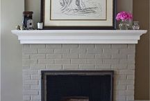Repaint fireplaces