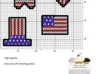 patriotic plastic canvas