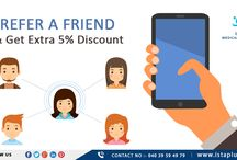 #Refer a #friend and #get #extra 5% #discount
